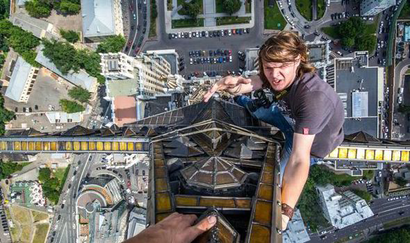 This guy is probably not a vertigo sufferer.